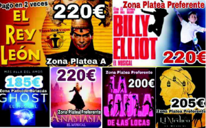 MUSICALES MADRID «Rey Leon-Billy Eliot- Anastasia, etc»
